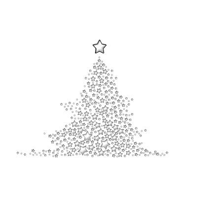 Starry Christmas Tree White