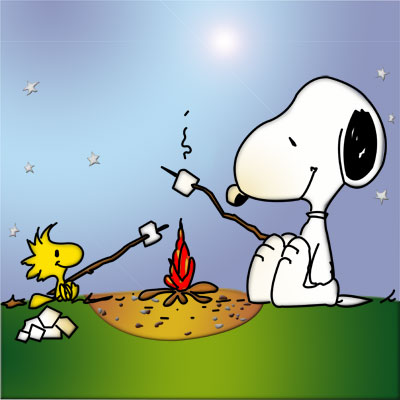 Snoopy Woodstock by the Campfile.jpg