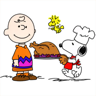 Charlie Brown Snoopy Woodstock Thanksgiving Day